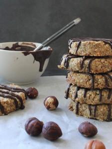 Hazelnut & Chocolate Oat Cookies