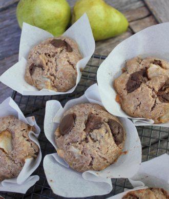 Pear & Carob Spelt Muffins