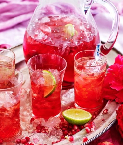 Pomegranate & Lime Iced Tea