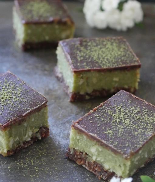 Raw Gluten-Free Matcha Slice