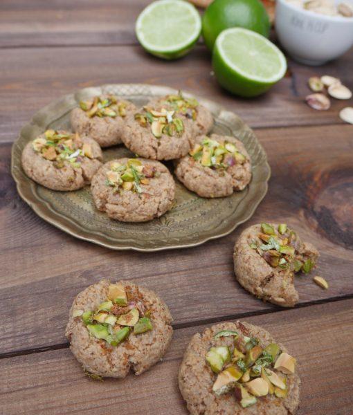 Gluten-Free Lime & Pistachio Cookies