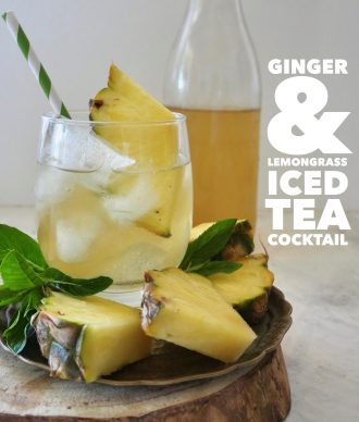 Iced Tea Cocktail, Ginger Pineapple and Lemongrass