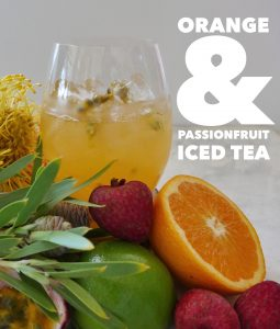 Iced Tea, Orange and Passionfruit