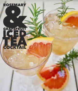 Iced Tea Cocktail, Rosemary Grapefruit Greyhound