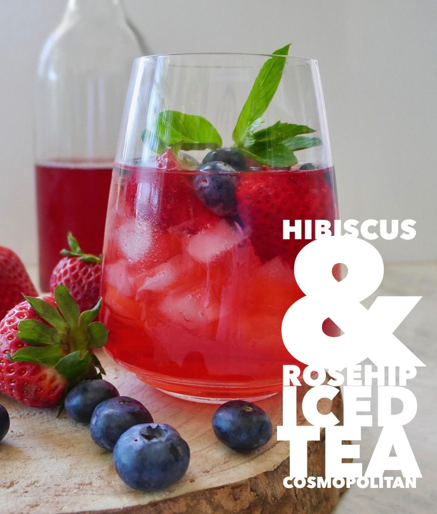 Iced Tea Cocktail, Hibiscus & Rosehip Cosmopolitan